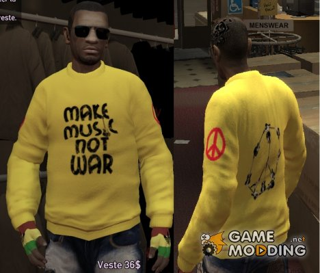 "Свитер ""Make Music Not War"" для GTA 4"