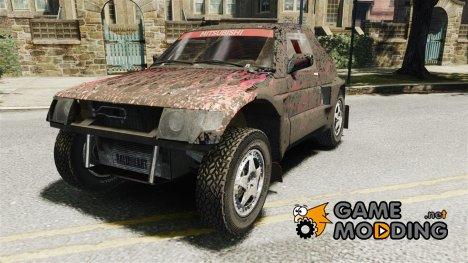 Mitsubishi Pajero Proto Dakar EK86 Винил 4 для GTA 4