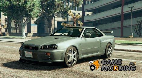 Nissan R34 GTR 0.1 for GTA 5