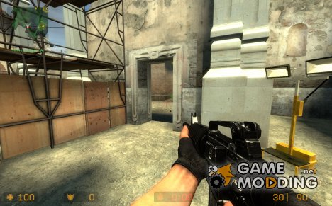 M4A1 Retex On Villain[RUS] Anims для Counter-Strike Source