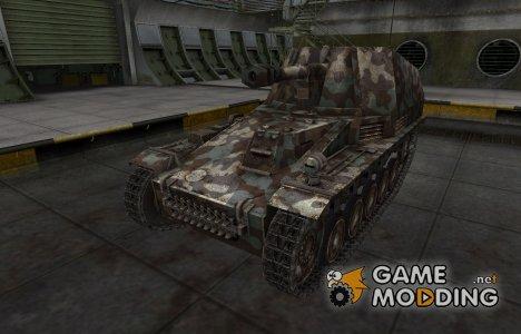 Горный камуфляж для Wespe для World of Tanks