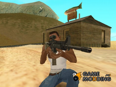 Chris Costa M4A1 w/ Acog (M4) for GTA San Andreas