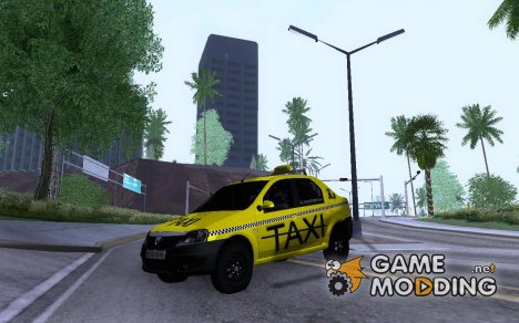 Dacia Logan 2008 LS Taxi for GTA San Andreas