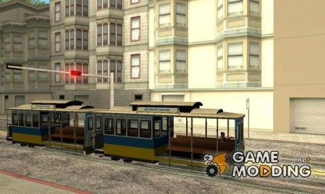 Tram, painted in the colors of the flag v.2 by Vexillum для GTA San Andreas