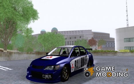 Mitsubishi Lancer EVO VIII MR GSR WMMT 3dx RALLY ART for GTA San Andreas
