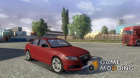 Audi S4 + интерьер для Euro Truck Simulator 2