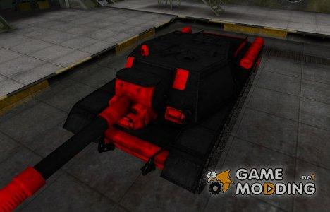 Черно-красные зоны пробития СУ-152 для World of Tanks