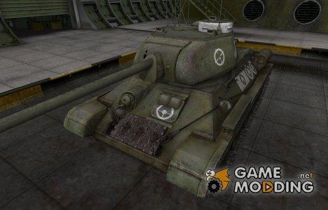Зоны пробития контурные для Т-34-85 для World of Tanks