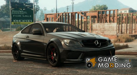 Mercedes-Benz C63 AMG Unmarked для GTA 5