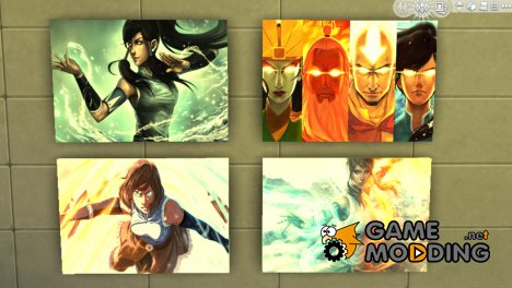 "Картины ""The Legend of Korra"" for Sims 4"