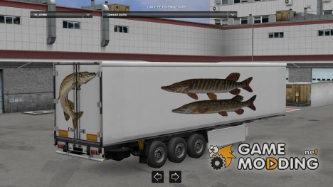 Fish Trailers Pack for Euro Truck Simulator 2