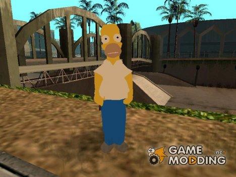 Гомер Симпсон для GTA San Andreas