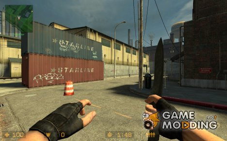 Knife In Black for Counter-Strike Source
