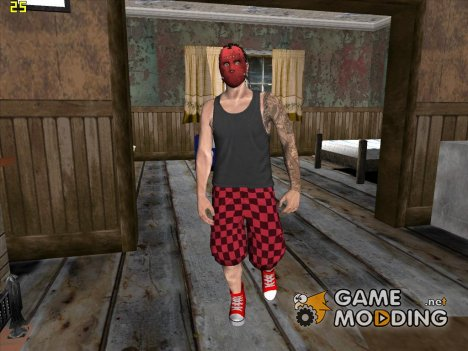 Skin HD Random GTA V Online Red Mask for GTA San Andreas