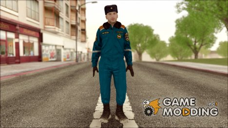 Старший Лейтенант МЧС в зимней форме for GTA San Andreas