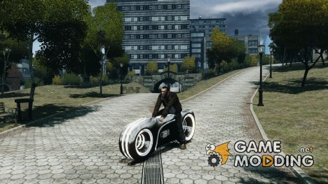 Мотоцикл из Трон (серый неон) for GTA 4