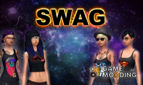 Swag girl for Sims 4