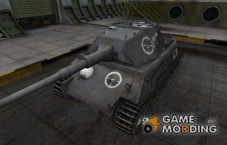 Зоны пробития контурные для VK 45.02 (P) Ausf. A for World of Tanks
