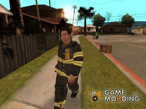 Пожарник из GTA 4 для GTA San Andreas
