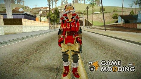 Новогодний скин инженера из WARFACE для GTA San Andreas