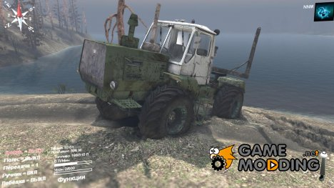 ХТЗ Т-150К Лесовоз for Spintires 2014