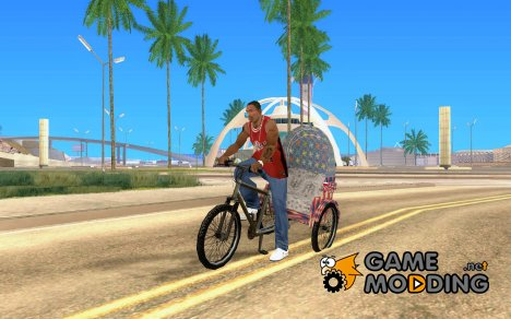 Manual Rickshaw v2 Skin5 for GTA San Andreas