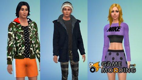 Пак одежды for Sims 4