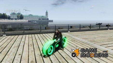Мотоцикл из Трон (зеленый неон) for GTA 4