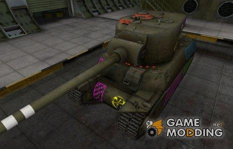 Качественные зоны пробития для M6A2E1 для World of Tanks