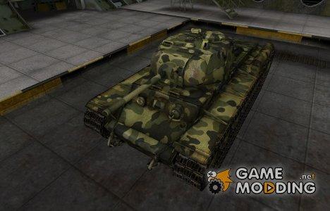 Скин для КВ-1С с камуфляжем для World of Tanks