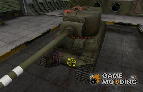 Контурные зоны пробития M6A2E1 for World of Tanks