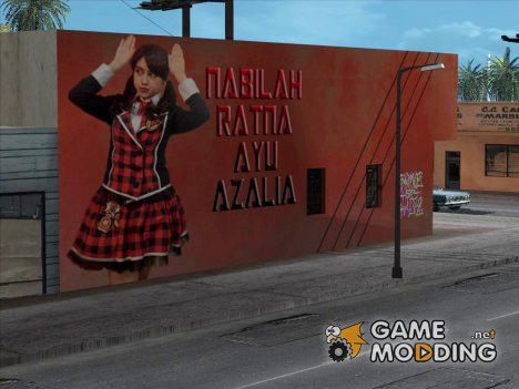 Wall LS Nabilah JKT48 for GTA San Andreas