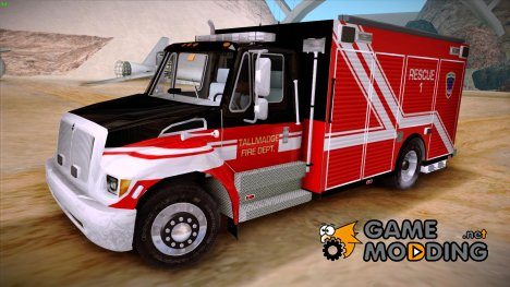 Pierce Commercial TFD Rescue 1 for GTA San Andreas