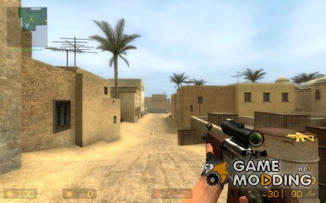 Wood sg552 для Counter-Strike Source