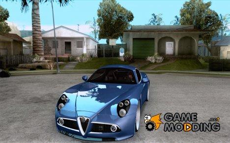 Alfa Romeo 8C Competizione для GTA San Andreas