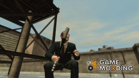 Полосатая бейсбольная бита для GTA 4