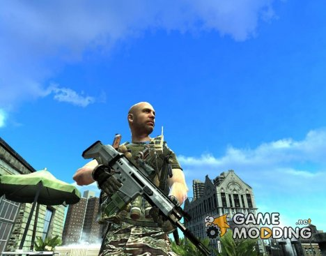 Fn Scar-H с Acog для GTA 4