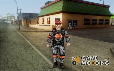 Soldier From Team Fortress Classic (Red) для GTA San Andreas