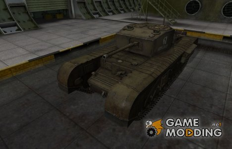 Исторический камуфляж Черчилль III для World of Tanks