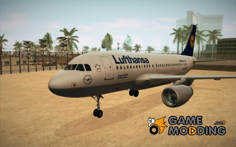 Airbus A319 Lufthansa for GTA San Andreas