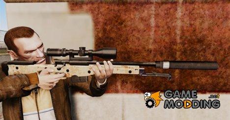 Снайперская винтовка AW L115A1 с глушителем v9 for GTA 4
