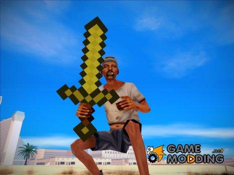 Золотой меч из Minecraft для GTA San Andreas