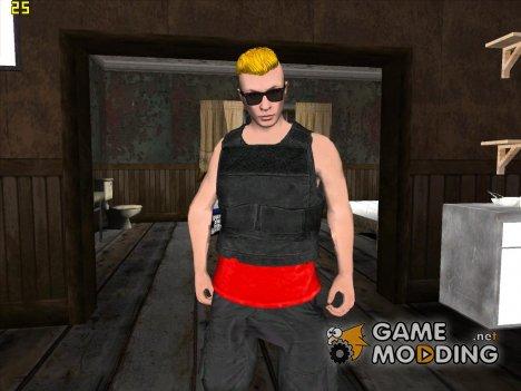 Skin GTA V Online HD парень c жёлтой причёской for GTA San Andreas