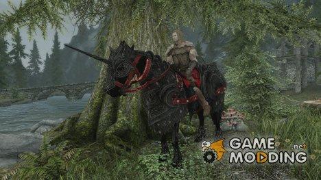 Black Armored Unicorn for TES V Skyrim