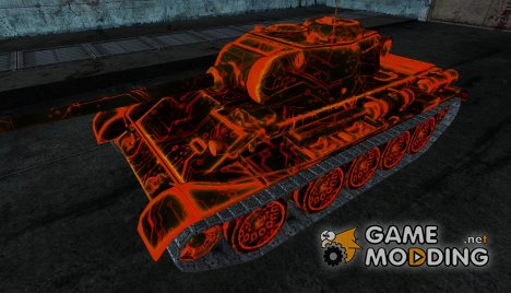 T-44 genevie red for World of Tanks