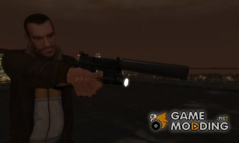 HK USP 45 with Working Flashlight v2.5 для GTA 4