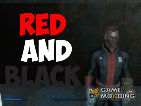 Black and Red Vaultsuit для Fallout 4