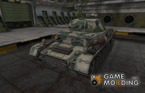 Скин для немецкого танка PzKpfw IV for World of Tanks