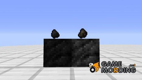 Блок древесного угля для Minecraft