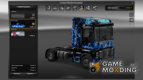 Blue Flame Renault Magnum for Euro Truck Simulator 2
